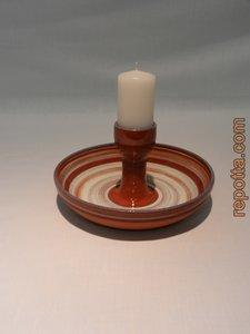 keramiek kaarsenhouder met onderschotel
