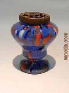 art deco steekvaas met czechisch glas
