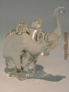 olifant figuur helder glas