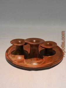 kaarsenhouder of kandelaar van keramiek