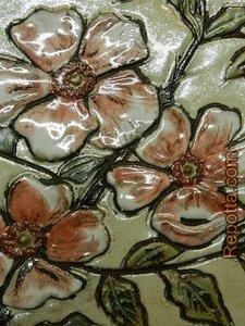 ruscha  bloemen wand plaquette VERKOCHT
