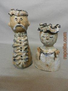 keramiek echtpaar, levenspaar VERKOCHT