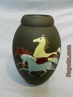 kiechle vaas met drie paarden VERKOCHT
